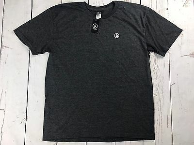 New Volcom Men's Crew Neck T-Shirt Gray Size Large NWT
