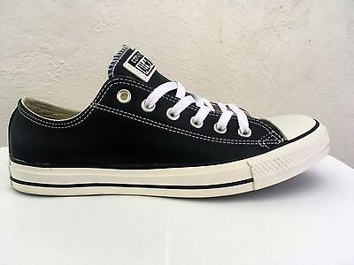 a459defd05d2 Mens Converse Chuck Taylor All Star Lo Top Leather Fashion Sneaker Black  132174C