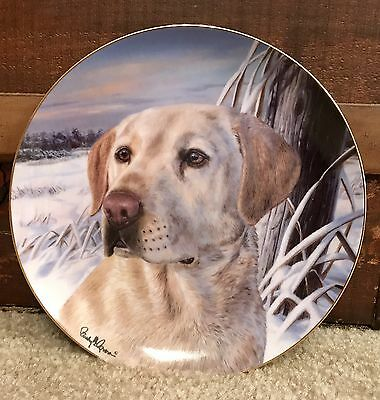 Labrador Retriever Watchful Companion Franklin Mint Heirloom Collection plate