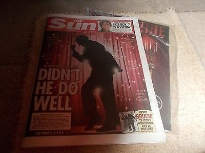 Bruce Forsyth Tribute - The Sun - Saturday, 19/08/2017 -Mint/flat Delivered