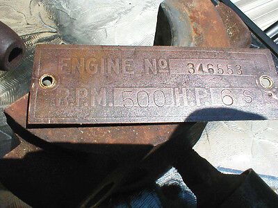 Brass engine tag hit and miss engine hercules