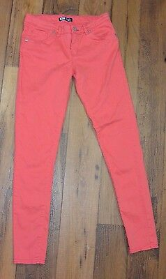 Girl's LEVI Denim Leggings Skinny Leg Jean Pants Pink Size 14 Reg EUC
