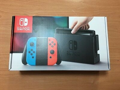 Nintendo Switch 32GB Grey Console with Neon Red Neon Blue #1: Nintendo Switch 32GB Gray Console with Neon