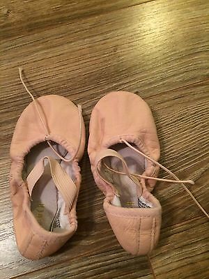 Little Girls Pink Ballet Shoes By Bioch Leather Size 9 B