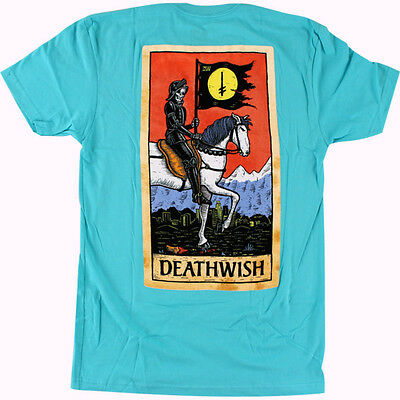 DEATHWISH Skateboards T-Shirt *Tarot Card*, türkis, Gr. XL