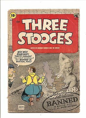 Three Stooges Comic Book #6 (Aug 1954, St. John) Moe Larry Shemp RARE  3 Stooges