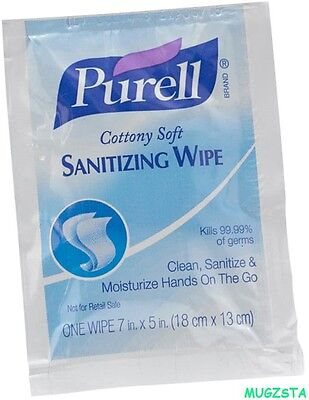 50 x Purell Anti Bacterial Hand Wet Wipes Clean Disinfectant Sanitize Hygiene