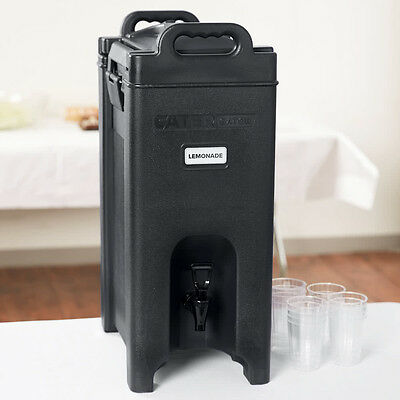 CaterGator 5 Gallon Black Catering Hot Cold Insulated Beverage Dispenser