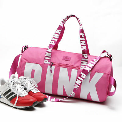 Victoria Secret Love PINK Duffel / Gym Bag - Sports Gym Travel Duffle VS Brand