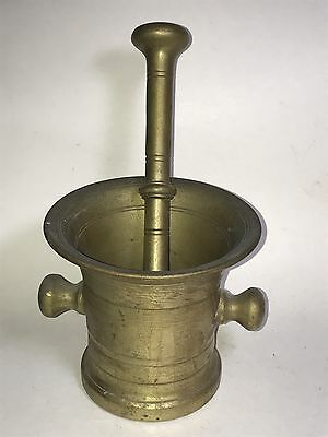 Antique Apothecary Solid Brass Mortar & Pestle