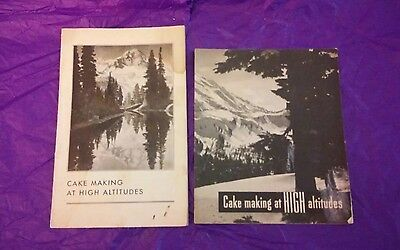 Lot of 2 CAKE MAKING AT HIGH ALTITUDES.1933 + 38. SWANS. GENERAL FOODS.