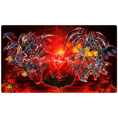 FREE SHIPPING Yugioh Playmat Play Mat Black Stone of Legend Red-Eyes CORE-EN021