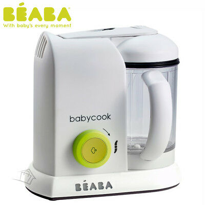NEW Beaba Babycook Solo Neon White Baby Food Processor Steam Cook Blend Defrost