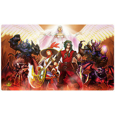 FREE SHIPPING Custom Yugioh Playmat Burning Abyss Yugimation Dante Beatrice