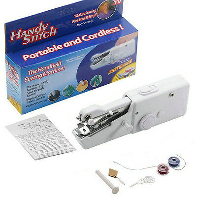 Quick Portable Hand Held Sewing Machine Singer Sew Handy Stitch Cordless Repairs