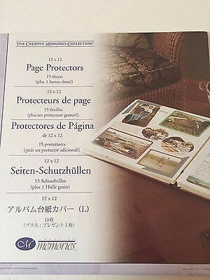 NEW Creative Memories Old Style Page Protectors 12 X 12