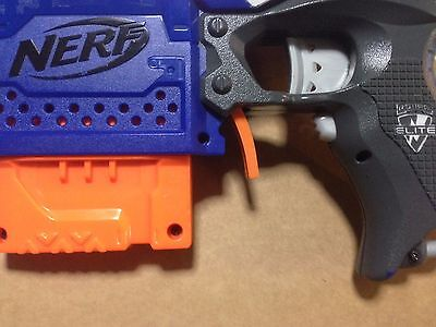 Nerf Stryfe Extended Magazine Release 3D Printed Blaster Clip Release (Orange)