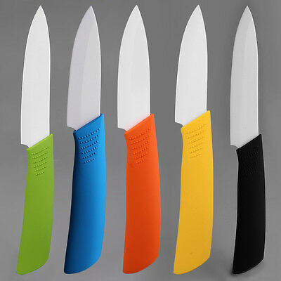 New 3 Inch Ceramic Knife Colorful Handle With White Blade Kitchen Knives lotAW