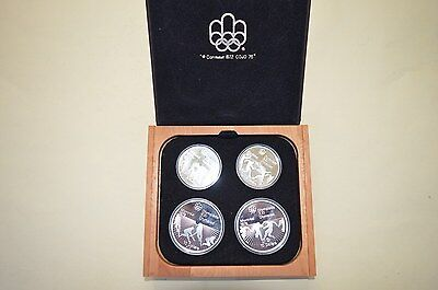 1976 Montreal Olympic Games .925 Sterling Silver Proof 4 Coin Set  Body Contact