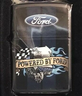 Zippo Powered By Ford Windproof Lighter AMERICANA HUNTINGTON'S DISEASE HDSA