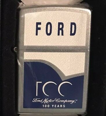 Ford Motor Co 100 Yrs Zippo Windproof Lighter Dependable Flame HUNTINGTON'S HDSA