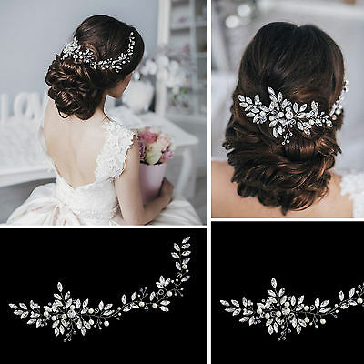 Bridal Crystal Long Hair Vine Accessory Handmade Romantic Jewelry Wire Wedding