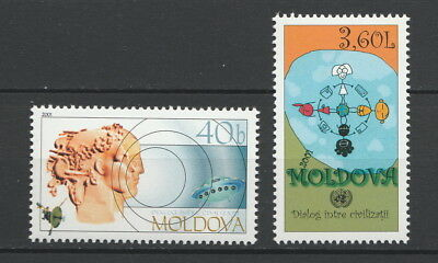 Moldova 2001 United Nations Year of Dialogue Among Civilizations 2 MNH stamps