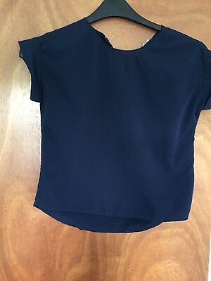 river island girls navy blouse age 11yrs