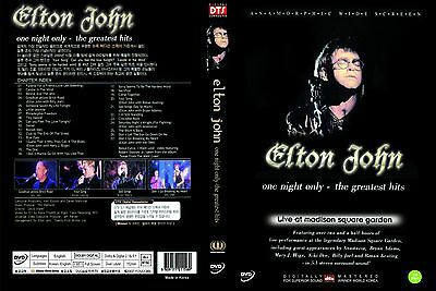Elton John : One Night Only-The Greatest Hits (DVD,All,Sealed,New)