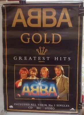 Original Large Vintage ABBA Gold Greatest Hits Promotional Poster