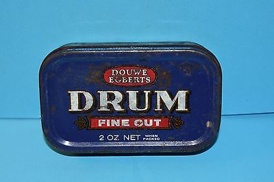 Collectable Double Egberts Drum Fine Cut Tobacco Tin 2 Oz Net Holland