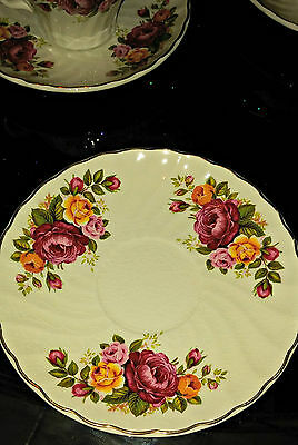Wood and Sons England Cottage Rose Ironstone 1 Saucer Plate
