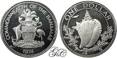 Bahamas - Silver Dollar Argent 1974 - KM 65a - Proof