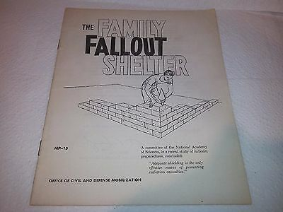 THE FAMILY FALLOUT SHELTER 1st PRINT 1958 Office Of Civil Defense Mobilization