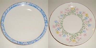 2 Beautiful Vintage Crown Staffordshire Plates