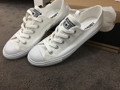 Women Converse Shoes White/black/ Ctas Dainty Ox Size 6 Us