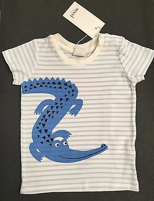 NEW Seed Heritage Baby Boy Tshirt Top  100% Cotton Size 00 3-6 Months RRP$24.95