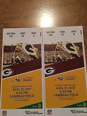 Green Bay Packers vs L.A. Rams August 31st