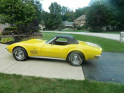 1972 Chevrolet Corvette Convertible 1972 Corvette Conv 2 Tops 4 Speed, factory AC, Engine #s match, Body Off