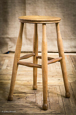 Early 20th Century Elm Stool