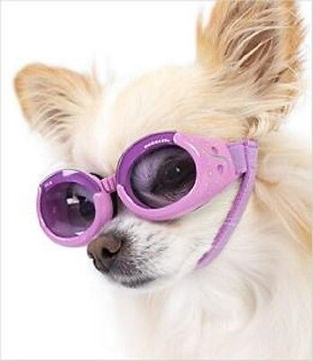 SUNGLASSES FOR DOGS by Doggles -  LILAC FRAME WITH PURPLE LENS - MEDIUM
