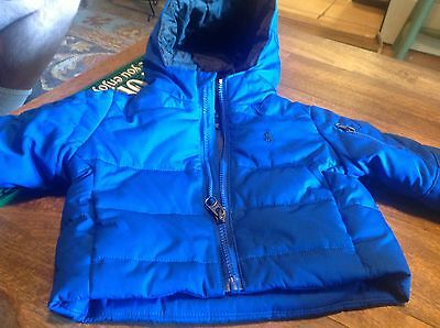 Ralph Lauren Boys Quilted Jacket  Size 9 Months - Hooded