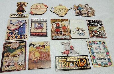 MARY ENGELBREIT INK / Michel & Co.-Lot of 14 Refrigerator Magnets Most 3D Cute!