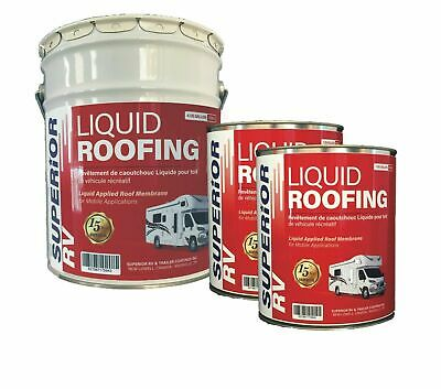 RV Roof Coating EPDM Liquid Rubber Sealant White 6 Gallons 15 Year Guarantee