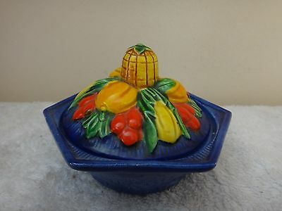 Vintage Marutomoware Lidded Pot Hand Painted Made in Japan c1930s