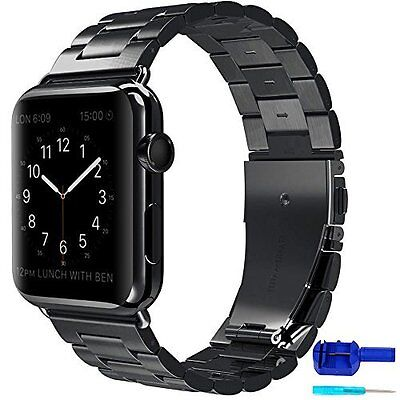 For Apple Watch 42mm Band iWatch Strap Stainless Steel Metal Clasp Series1 2 NEW
