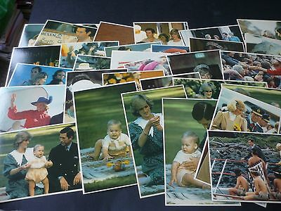 CHARLES & DIANA IN THE ANTIPODES, Complete Set of 30 Postcards, Prescott Pickup