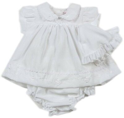 Baby Girls White Premature Reborn Dress Pants Knickers Hat 3-5lbs 5-8lbs NB