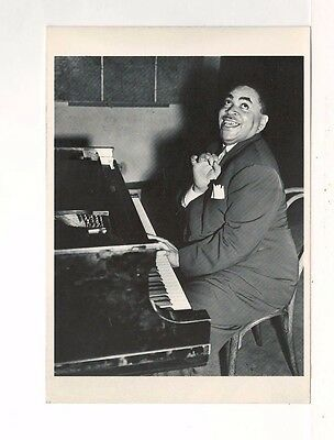 1937 Photograph of Fats Waller – Postcard Printed in the 1980's - Unused