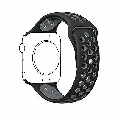 For Apple Watch Band 42mm Silicone Sport Replacement Bracelet Strap iWatch NEW